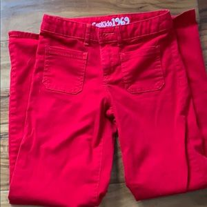 Red 1969 GapKids Pants